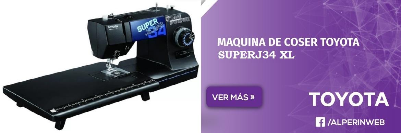 Maquina de coser toyota superj34