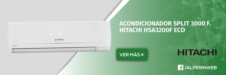 Acondicionador split 3000 f. hitachi hsa3200f eco