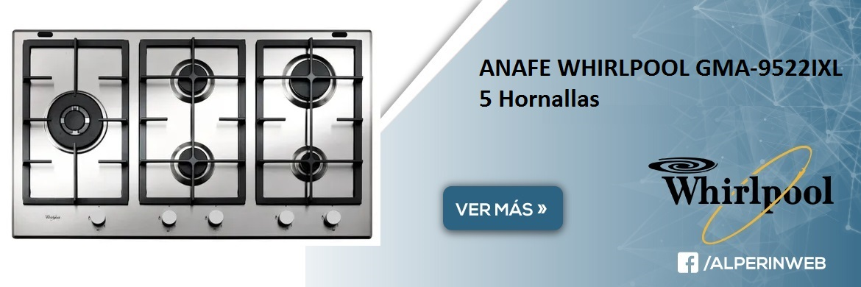 Anafe whirlpool 5 hornallas